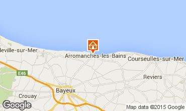 Carte Arromanches Gite 81097