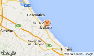Carte Bellaria Igea Marina Appartement 88414
