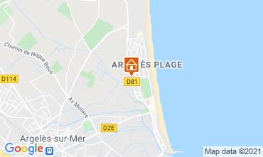 Carte Argeles sur Mer Studio 90896