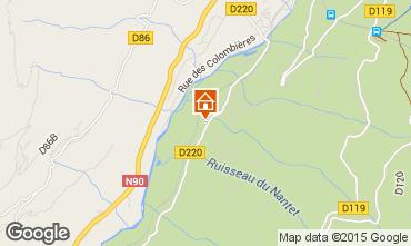 Carte Bourg saint Maurice Chambre d'h�te insolite 100345