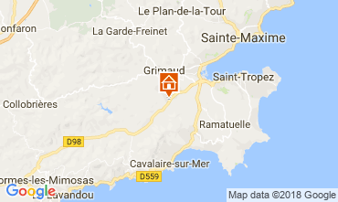 Carte Saint Tropez Villa 64669