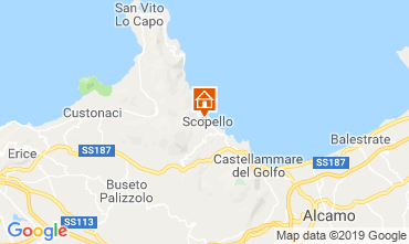 Carte Scopello Villa 66027