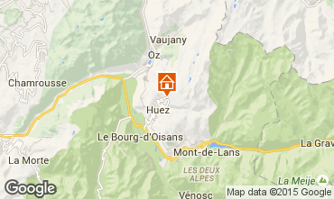 Carte Alpe d'Huez Studio 96346