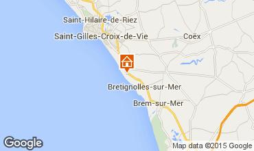 Carte Bretignolles sur mer Maison 21946