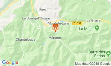 Carte Les 2 Alpes Chalet 116881