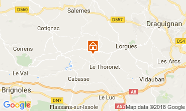 Carte Le Thoronet Gite 113716