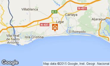 Carte Andalousie Islantilla.Locations Vacances El Portil