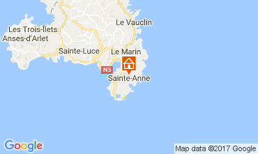 Carte Sainte Anne (Martinique) Villa 107589