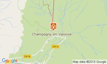 Carte Champagny en Vanoise Studio 106040