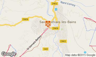 Carte Saint Gervais Mont-Blanc Studio 92222