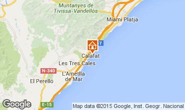 Carte La Ametlla de Mar Villa 82763
