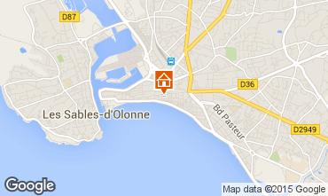 Carte Les  Sables d'Olonne Appartement 94815