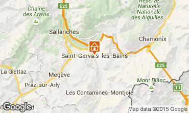Carte Saint Gervais Mont-Blanc Studio 2586