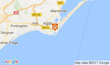 Carte Cap d'Agde Villa 112310