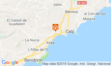 Carte Altea Villa 118294