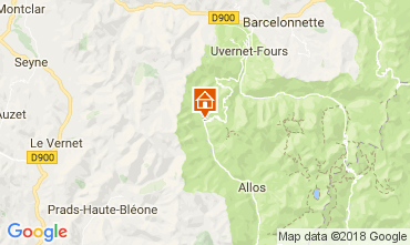 Carte La Foux d'Allos Appartement 113414