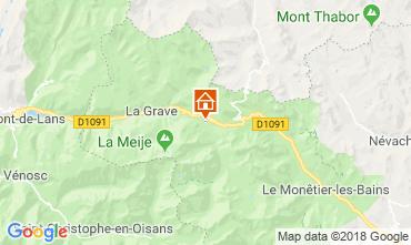 Carte La Grave - La Meije Chalet 51065