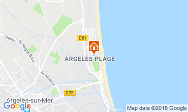 Carte Argeles sur Mer Appartement 116981