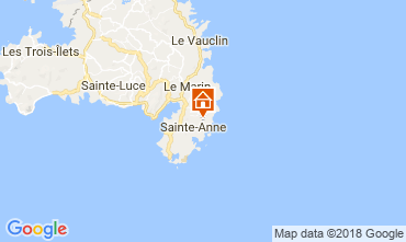 Carte Sainte Anne (Martinique) Villa 88363