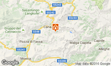 Carte Canazei - Belvedere Appartement 45784
