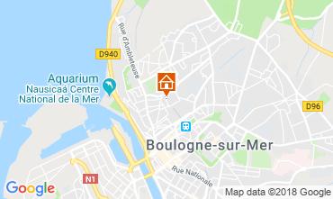 Carte Boulogne/mer Gite 116112