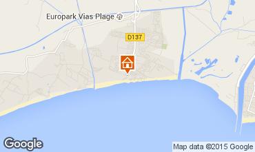 Carte Vias Plage Mobil-home 14536