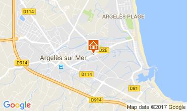 Carte Argeles sur Mer Appartement 42971