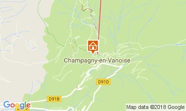 Carte Champagny en Vanoise Studio 112836