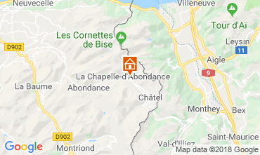 Carte La Chapelle d'Abondance Appartement 117457
