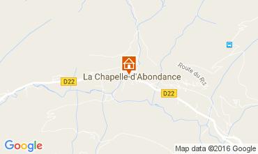 Carte La Chapelle d'Abondance Appartement 48985