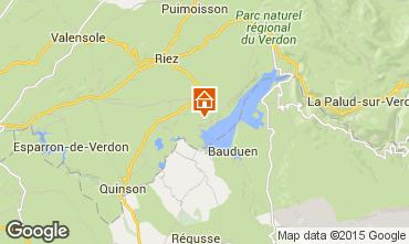 Carte Sainte-Croix-du-Verdon Gite 86894