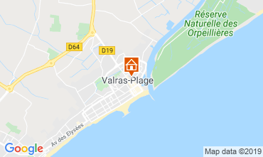 Carte Valras-Plage Studio 10164