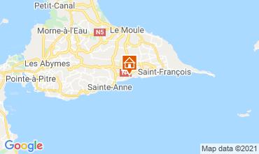 Carte Sainte Anne (Guadeloupe) Gite 15292