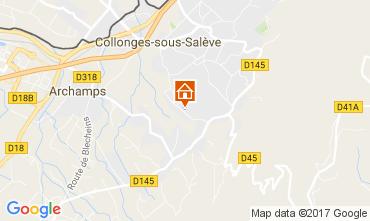 Carte Collonges-sous-Salève Gite 110146