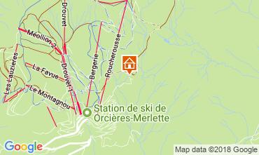 Carte Orcières Merlette Chalet 115606