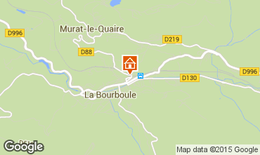 Carte La Bourboule Gite 57606