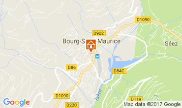 Carte Bourg saint Maurice Studio 111638