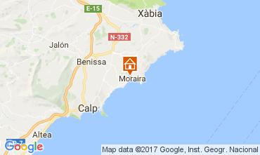 Carte Moraira Villa 50670