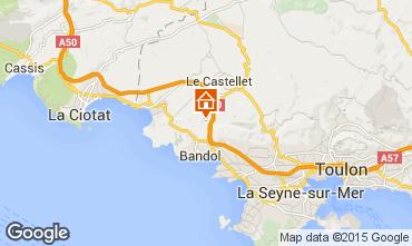 Carte La Cadière d'Azur Villa 94916