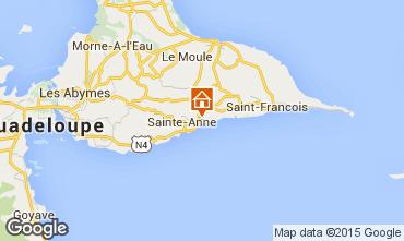 Carte Sainte Anne (Guadeloupe) Gite 27568