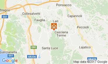 Carte Casciana Terme Cabane dans les arbres 109751