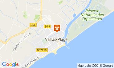 Carte Valras-Plage Mobil-home 106632