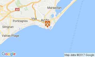 Carte Cap d'Agde Appartement 6257