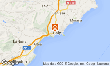 Carte Calpe Bungalow 29412