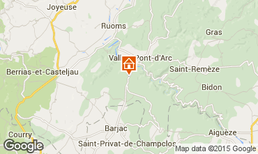 Carte Vallon-Pont-D'Arc Villa 23758