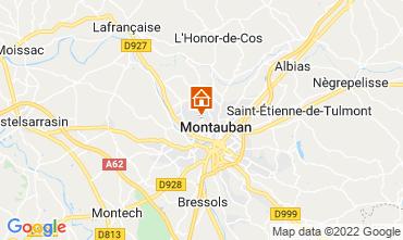 Carte Montauban Gite 73584