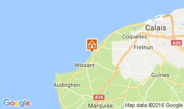 Carte Wissant Villa 106827