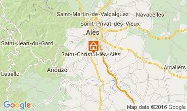 Carte Alès Gite 105161