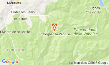 Carte Pralognan la Vanoise Appartement 52387