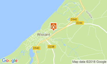 Carte Wissant Villa 113746